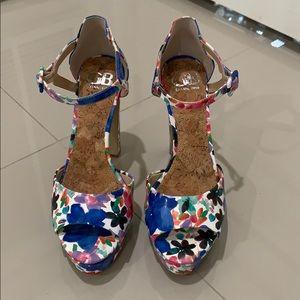 Gianni Bini heels! Like new! Lovely floral design!